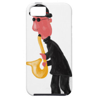 A man playing saxophone iPhone 5 case