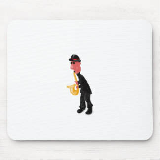 A man playing saxophone mouse pad