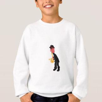 A man playing saxophone sweatshirt