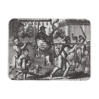A Mandarin in a Sedan Chair, illustration from a d Rectangular Photo Magnet