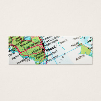 A map showing the American city of Miami Mini Business Card