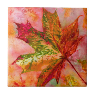 A Maple Leaf. Ceramic Tiles