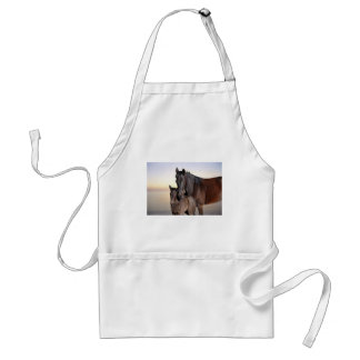 A mare and her baby foal apron