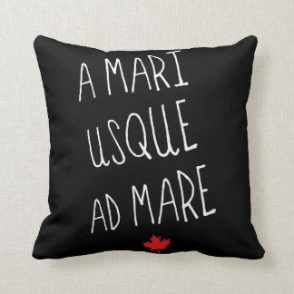 A Mari Usque Ad Mare Throw Pillow, Canadian Motto Throw Pillow