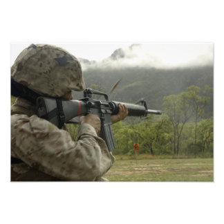 A Marine conducts drills Photo