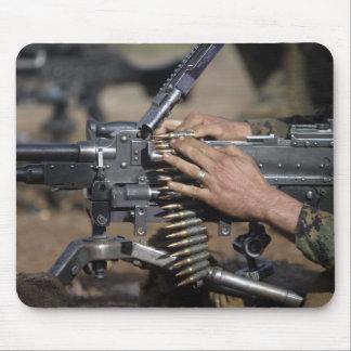 A Marine loads a M-240G machine gun Mouse Pad