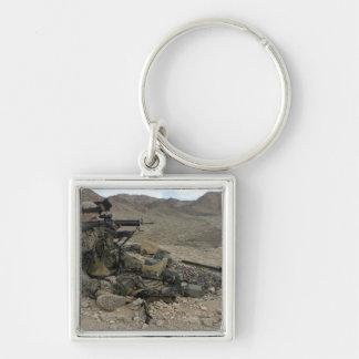 A Marine rifleman provides security Key Chain