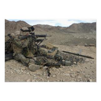 A Marine rifleman provides security Photograph
