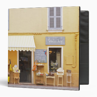 A market street in the old town with a shop vinyl binders