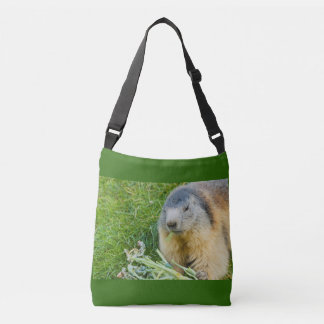 a marmot on All-Over-Print Cross Body Bag