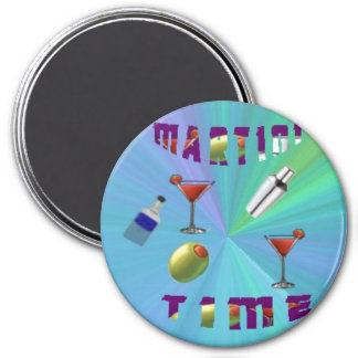 A martini night magnet/coaster magnet