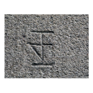 A Mason's Mark from Central Europe Postcard