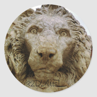 A Massa Lion Classic Round Sticker