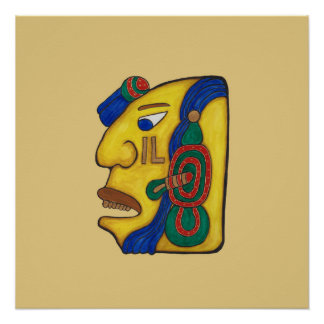 A MAYAN WOMAN CALLED HUN- GOLD BACKGROUND POSTER
