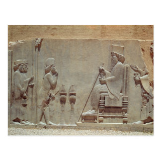 A Median officer paying homage to King Darius Postcard