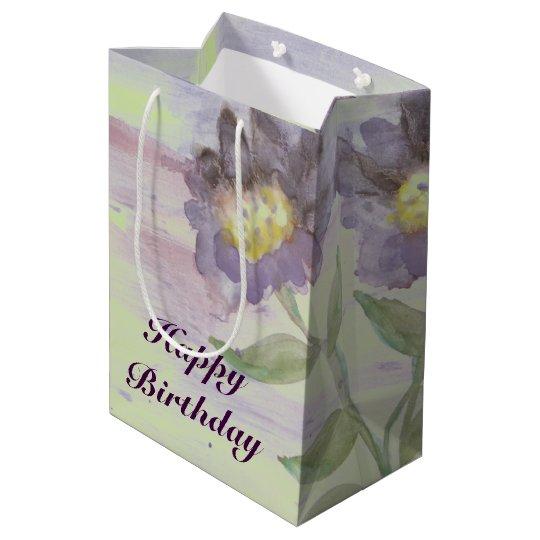 A Medium Dark Purple Watercolor Gift-Bag Medium Gift Bag