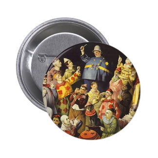 A MEETING OF CLOWNS Office Humor Circus Act 3 ring 2 Inch Round Button