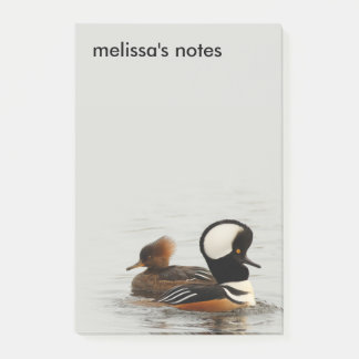 A Meeting of Hooded Mergansers Post-it Notes