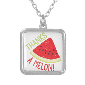 A Melon Silver Plated Necklace