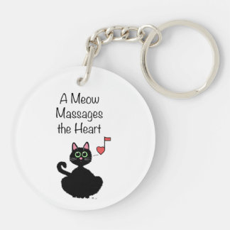 A Meow Massages the Heart Double-Sided Round Acrylic Keychain