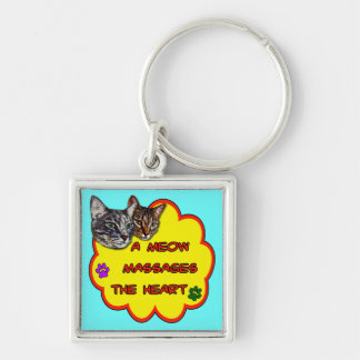 A Meow Massages The Heart Key Chains