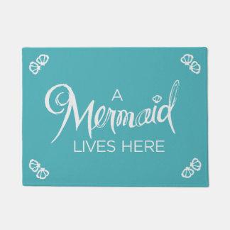 A Mermaid Lives Here - Doormat