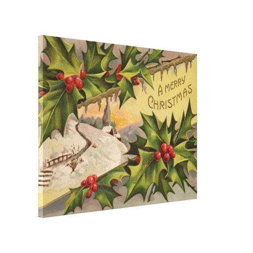 A Merry Christmas Gallery Wrap Canvas