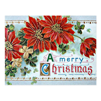 A Merry Christmas in 3D Postcard