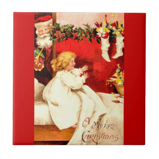 A Merry Christmas Ceramic Tile