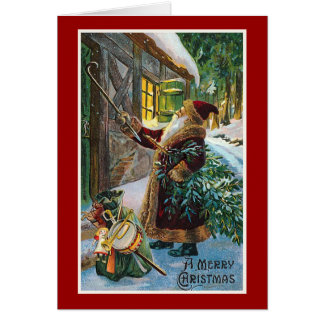 """A Merry Christmas"" Vintage Christmas Card"