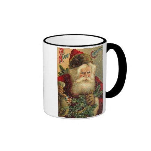 A Merry Christmas Vintage Santa Coffee Mugs