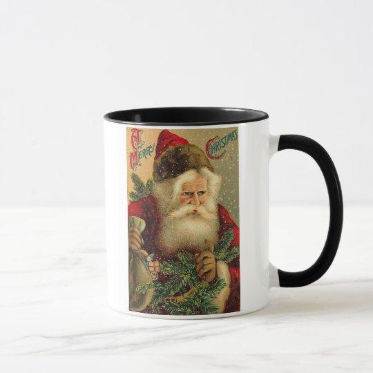 A Merry Christmas Vintage Santa Mug