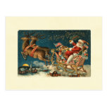 A Merry Christmas Vintage Santa Post Card