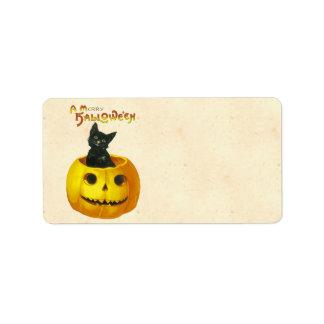 A Merry Hallowe en Address Label
