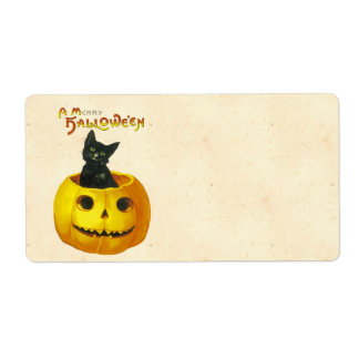 A Merry Hallowe en Personalized Shipping Label