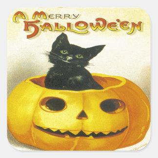 A Merry Hallowe en Square Sticker