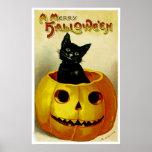 A Merry Halloween Kitten Poster