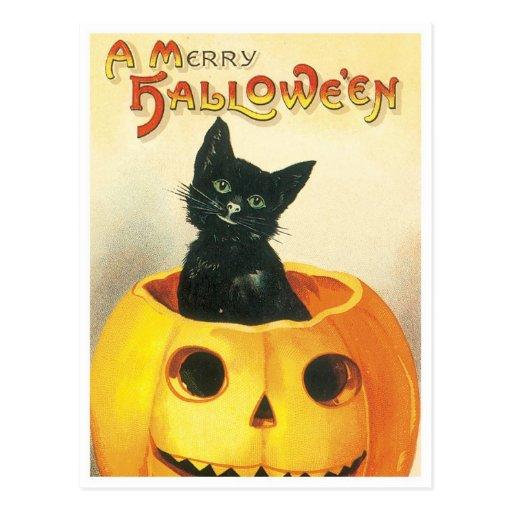 A Merry Halloween Post Card