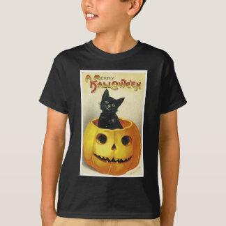 A Merry Haloween Kitten Tee Shirt