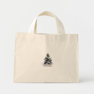 A Merry Little Christmas Mini Tote Bag