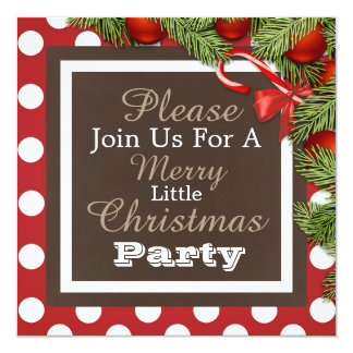 """A Merry Little Christmas Party"" Invitation"