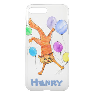 A merry red cat flying with balloons iPhone 8 plus/7 plus case