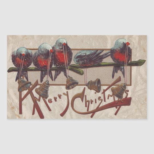 A Merry Xmas Birds Sticker