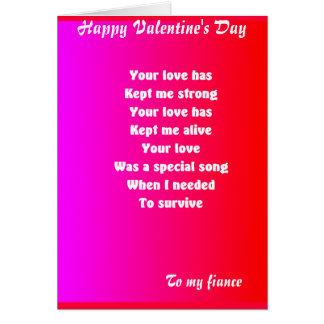 à mes cartes de voeux du jour de valentine de fian