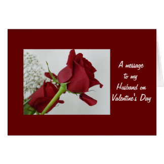 A message to my Husband- Valentine s Day Greeting Card