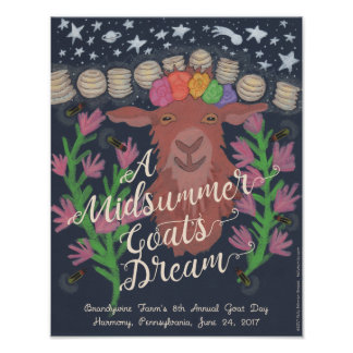 "A Midsummer Goat's Dream poster (11"" x 14"")"