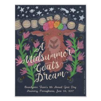 "A Midsummer Goat's Dream poster (8.5""  x 11"")"