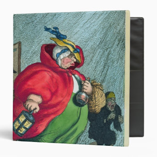 A midwife going to a labour, 1811 3 ring binder
