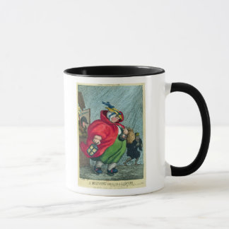 A midwife going to a labour, 1811 mug