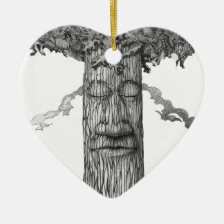 A Mighty-Tre-Cover-B&W Ceramic Heart Ornament